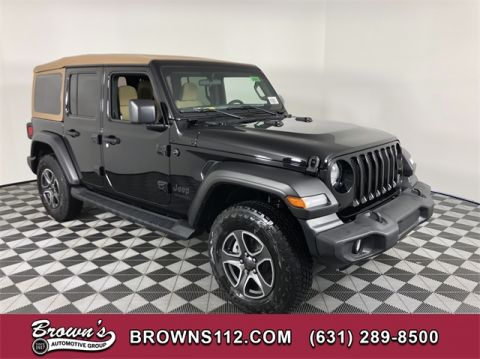 NEW 2020 JEEP WRANGLER UNLIMITED BLACK AND TAN 4X4