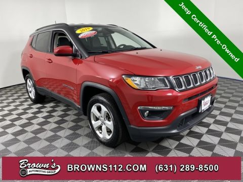 CERTIFIED PRE-OWNED 2019 JEEP COMPASS LATITUDE 4X4 TWO–TONE GLOSS BLACK ROOF