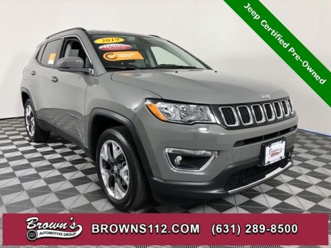 CERTIFIED PRE-OWNED 2019 JEEP COMPASS LIMITED LOW MILES WITH LEATHER