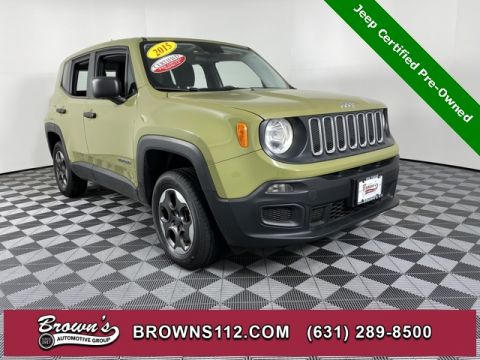CERTIFIED PRE-OWNED 2015 JEEP RENEGADE SPORT 4X4 RARE COLOR